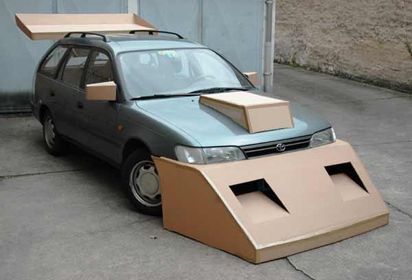 Cardboard car improvements make it more aerodynamic