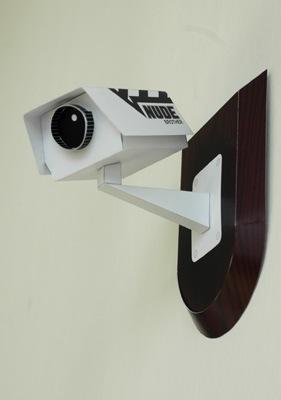 Papercraft CCTV cameras