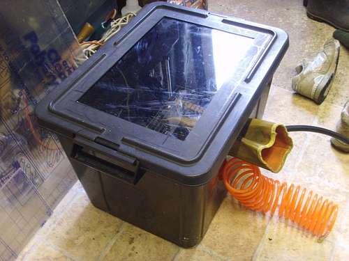 Homemade grit blasting cabinet
