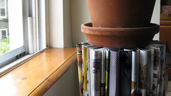 How To: Make A Table Using Old Magazines