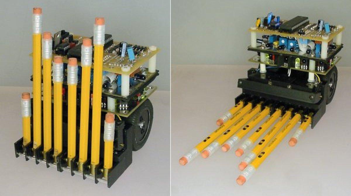 Autonomous Bot Uses Pencil Erasers As Bumpers Make