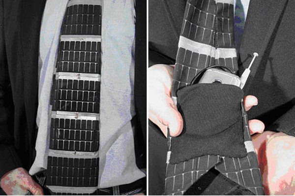 Solar necktie will probably not make you give up your wall power