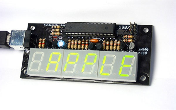 New in the Maker Shed – USB7 6-digit LED display kit