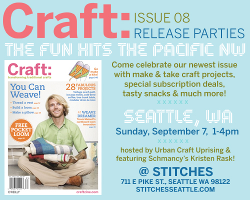 Seattle's CRAFT: 08 Release Party Reminder