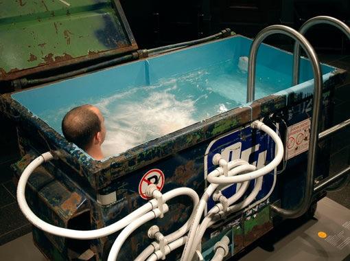 Dumpster hot tub