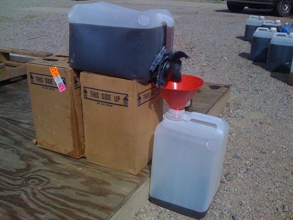 Denim waste oil filter