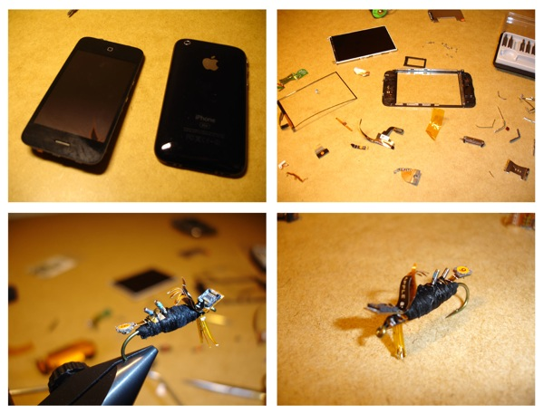 iPhone accidentally dropped in river, turned into fishing lures.