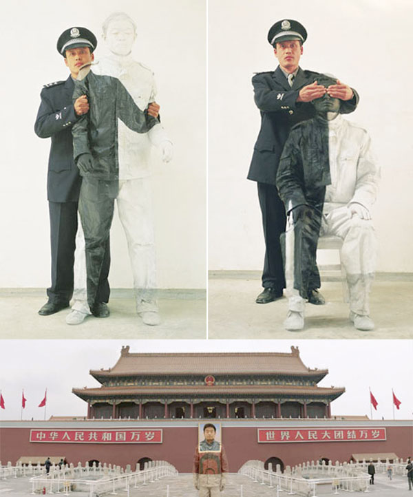 Camouflage paintings by Liu Bolin