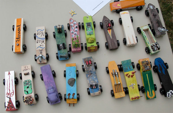 Pinewood derby party