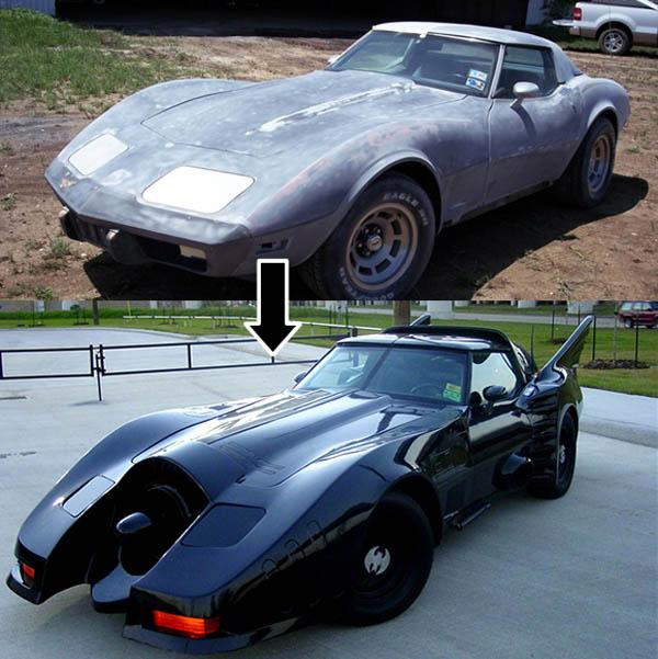 Corvette morphs into the Bat-mobile