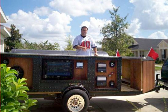 BBQ party trailer