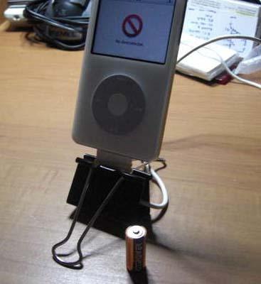 DIY: iPhone Binder Clip Dock