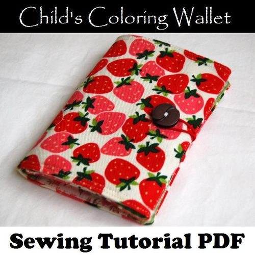 JC Handmade's Child's Coloring Wallet