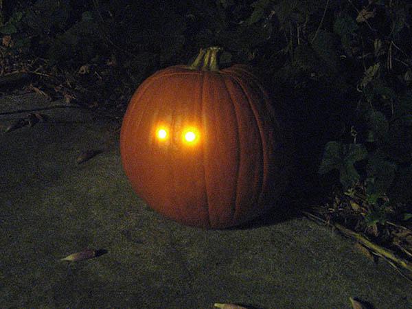 Dark-detecting pumpkin light circuit