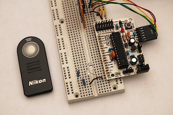Arduino Nikon Infrared Intervalometer