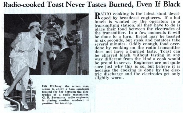 Radio-cooked toast