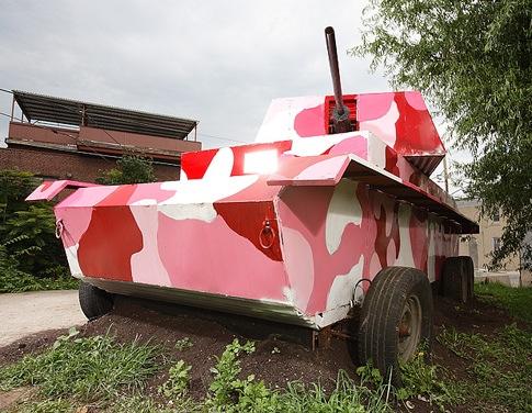 Pedal powered tank