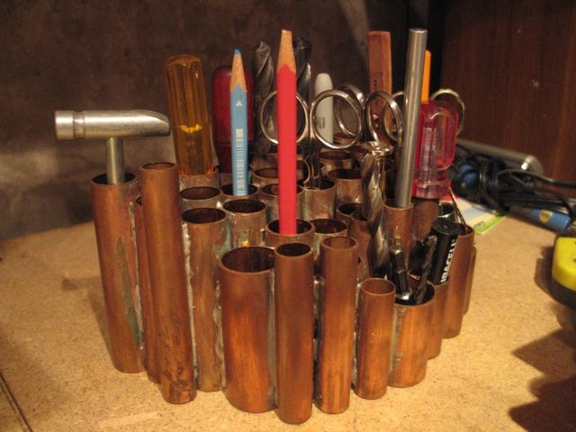 Pipe bench organizers