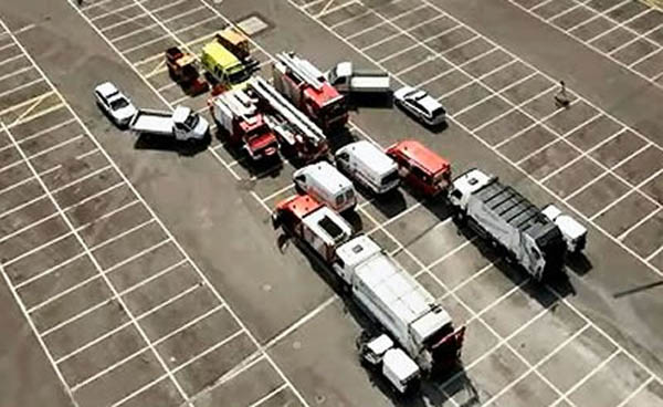 Transformers built from cars will take over the parking lot