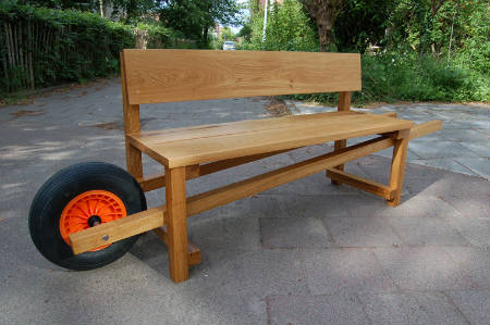Mobile bench will make it easier to move around your deck furniture