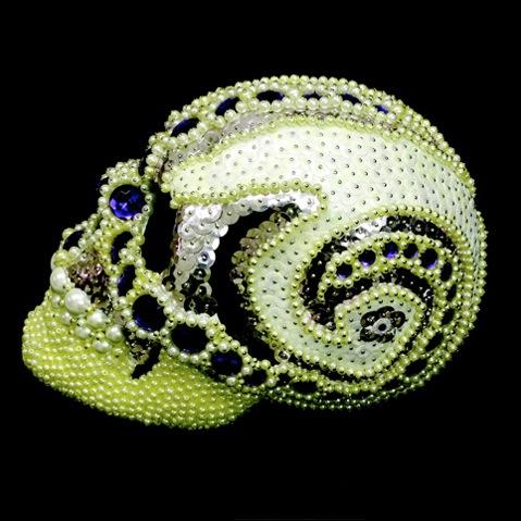 Jeweled skulls by Amy Sarkisian