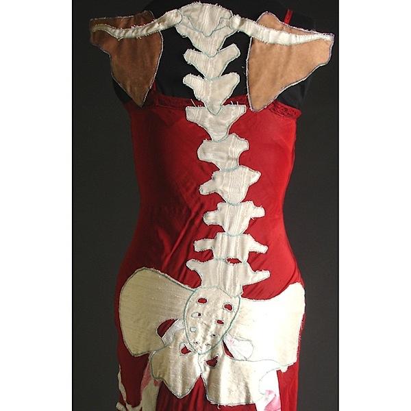Anatomical art dresses