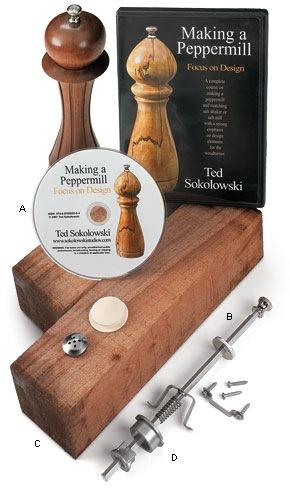 DIY pepper mill kit