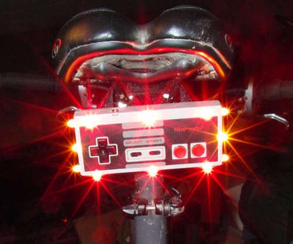 DIY: NES controller bike light