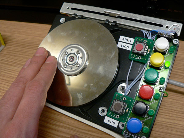 HDDJ – hard disk for rotary input