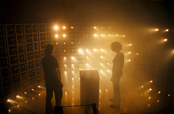 Game of life materialized in light and sound art