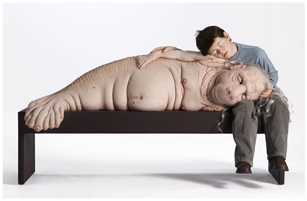 The Long Awaited, Foundling – Patricia Piccinini's silicone sculptures