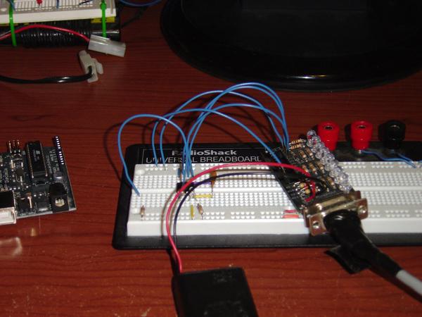 Modify a MiniPOV into an AVR programmer