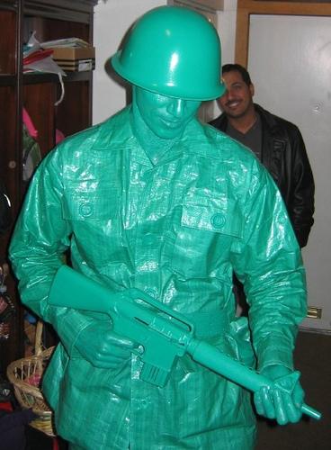 Plastic army man costume