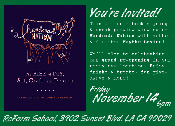 Handmade Nation Book Signing & Sneak Preview Party in LA