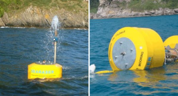 Searaser: pump water with waves