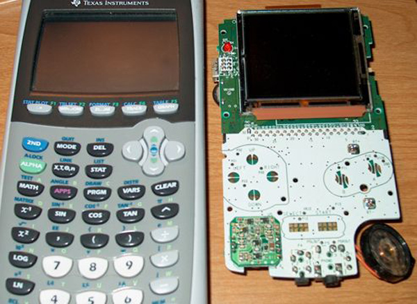 Gameboy gets implanted inside a TI-83 series calculator