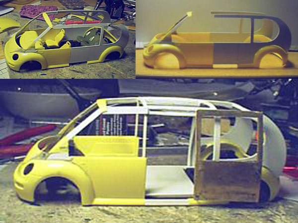 Modifying a VW Beetle model