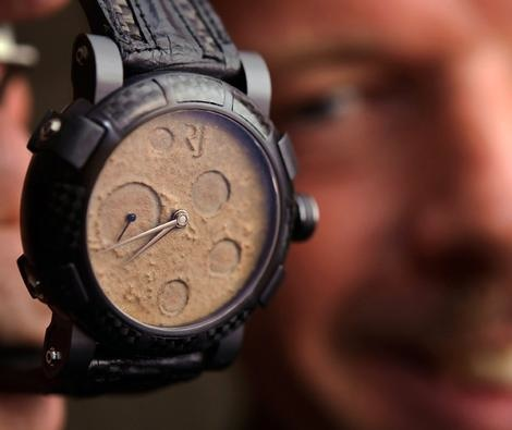 Watchmaker uses spare parts from space