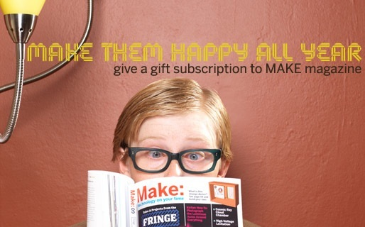 MAKE Magazine gift subscriptions and gift certificates – it's not too late to spark a lifetime of making!