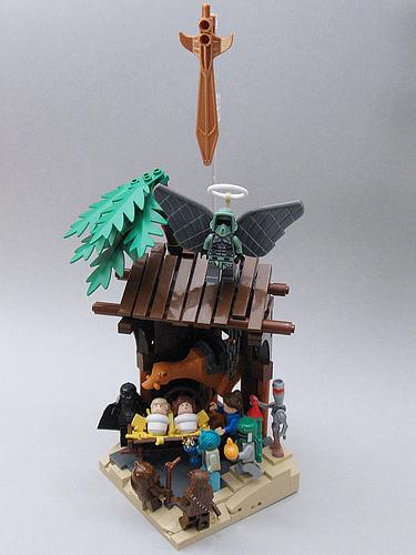 Star Wars nativity in LEGO