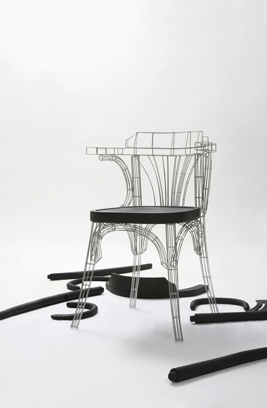 Grid Chair looks like a wireframe model