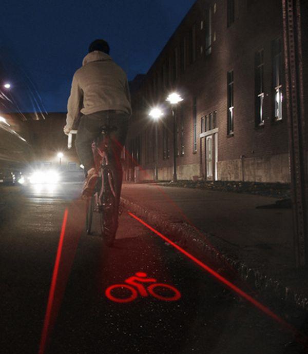 Biker-created bike lane