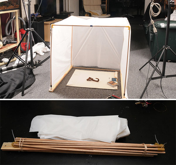 Collapsible photo lightbox on the cheap