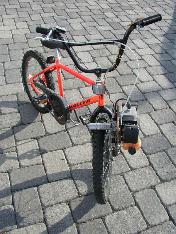 Make a leaf blower bike