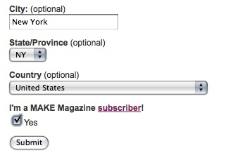Updates to the MAKE suggest a site form…