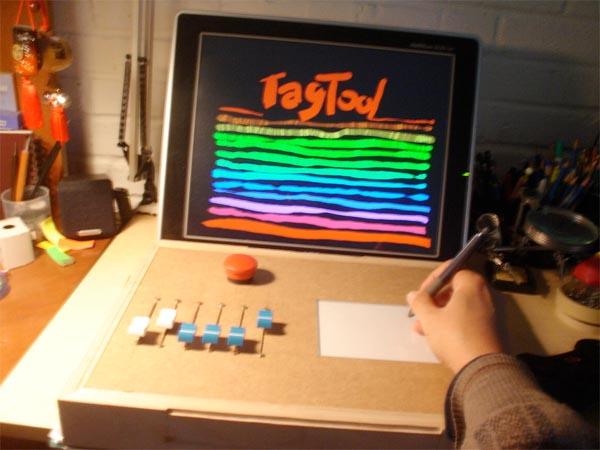 Tagtool live drawing interface