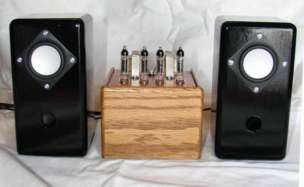 Home-brewed iPod tube amp and speakers for Xmas