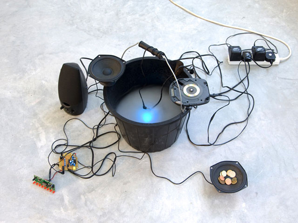 Recycled speakers and tangled wires make beautiful music