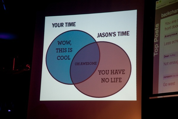 Your time vs Jason's time…