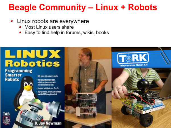 HomeBrew Robotics Club presentation on making Beagle Board robots